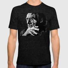 Charles Bukowski - black - quote Mens Fitted Tee Tri-Black SMALL