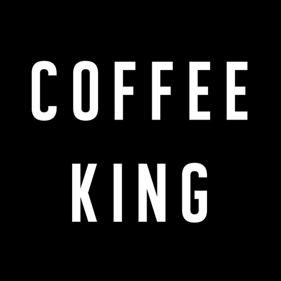 Coffee King Canvas Print