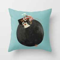 Life On Earth | Collage Throw Pillow