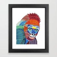 Colorful Gorilla Framed Art Print