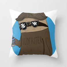 Slothster Throw Pillow