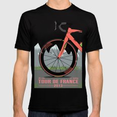 Tour De France Bike Black Mens Fitted Tee SMALL