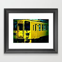 J Train Framed Art Print