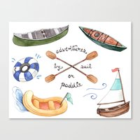 Adventures By Sail Or Pa… Canvas Print