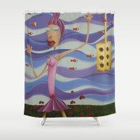 Floating Dancer Shower Curtain