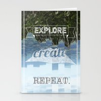 Explore Create Repeat Stationery Cards