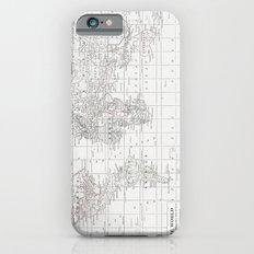 World Map ~ White on White iPhone 6 Slim Case