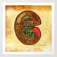 The Fig Eaters Letter E … Art Print