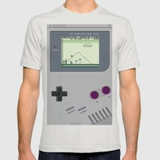 OLD GOOD GAMEBOY Mens Fitted Tee Silver SMALL