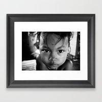 Cambodian Girl Framed Art Print