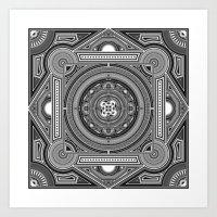 Black Mandala Art Print