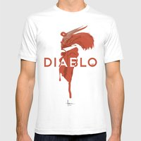 DIABLO409 Mens Fitted Tee White SMALL
