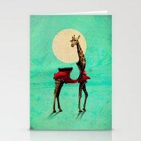 giraffe Stationery Cards featuring Giraffe by Ali GULEC