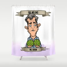 Big Melons (Mel Gibson) Shower Curtain
