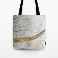 Watercolor under the trees Tote Bag