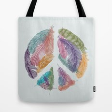 Feathers for Peace (Peace Sign) Tote Bag