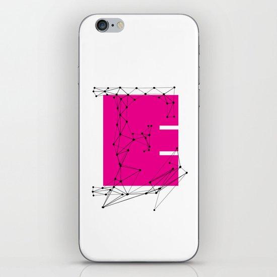 E (abstract geometrical type) iPhone & iPod Skin