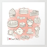 I {❤} SWEET STUFF Art Print