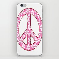 Peace Sign With Flowers … iPhone & iPod Skin