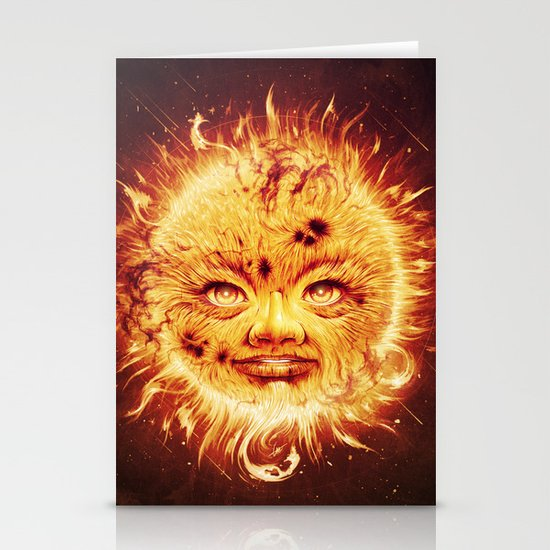 The Sun (Young Star) Stationery Card