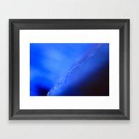 Blue Scar Framed Art Print