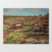 Ave Hurley - Tenant House In August [reversed] Canvas Print