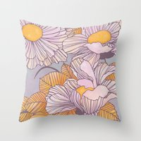 Sun Blossoms Throw Pillow