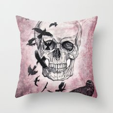 The Crows of Death Throw Pillow