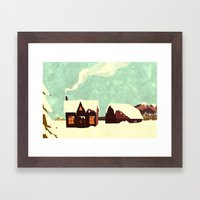 The Loving Home Of Bunny… Framed Art Print