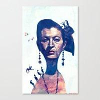 Lady Horizon Canvas Print