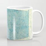 Alabama Map Blue Vintage Mug