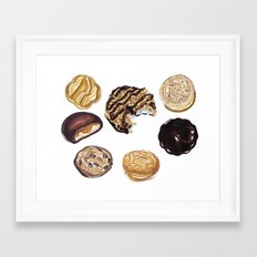 Girl Scout Cookies Framed Art Print