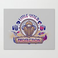 Little Sister Protection Canvas Print