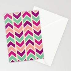zig zag (purple) Stationery Cards