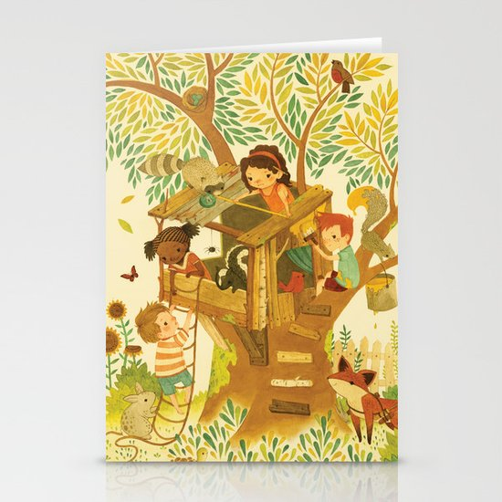 Our House In the Woods Stationery Card