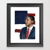In The Blue Corner Framed Art Print