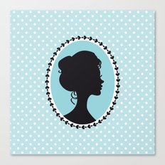 Blue cameo Canvas Print
