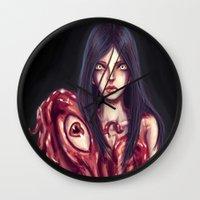 Flesh Maiden Wall Clock
