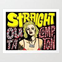 Straight Outa' Compton Art Print