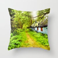 Woodsman's Cottage Throw Pillow