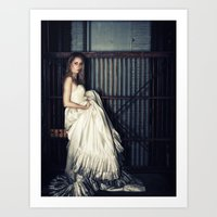 Bride In A Dirty Wedding Gown Art Print