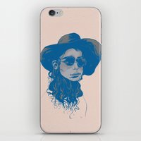 Woman In Hat And Sunglas… iPhone & iPod Skin