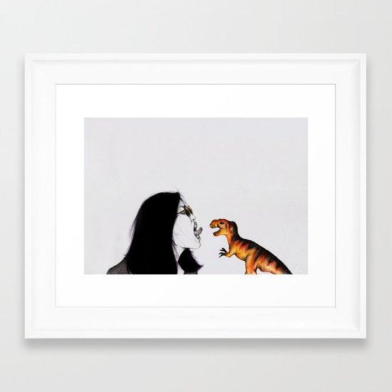 Uglysaurus IV Framed Art Print