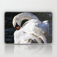 The Peaceful Swan Art Laptop & iPad Skin