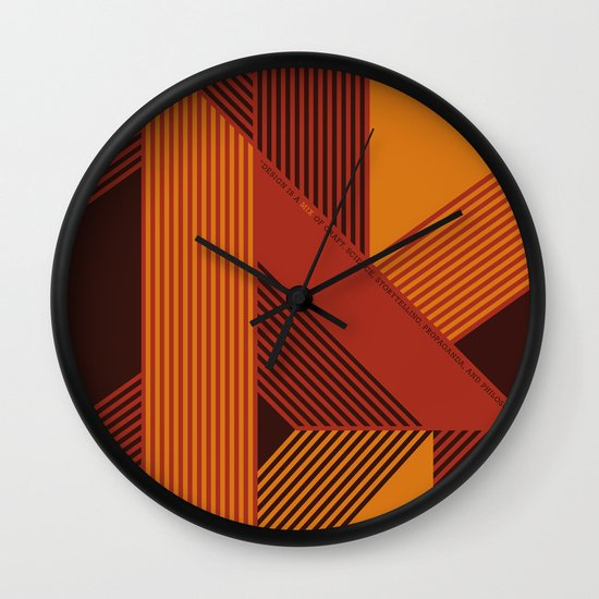 Design is a Mix Wall Clock