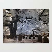 Cemetery Infrared Canvas Print
