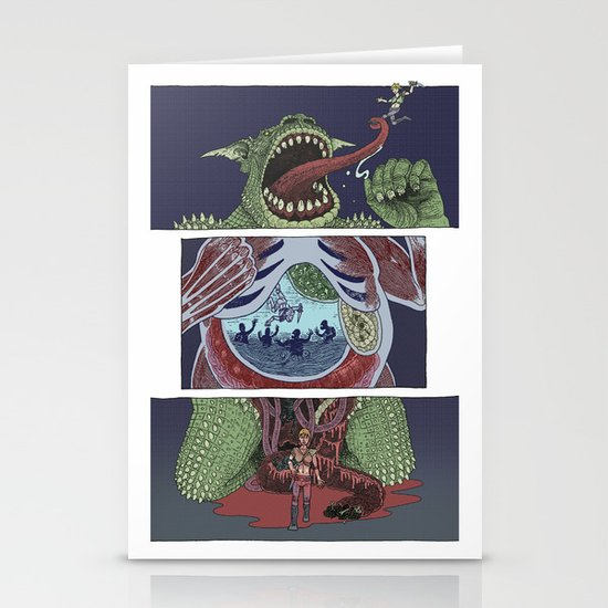Troll Killer Stationery Card