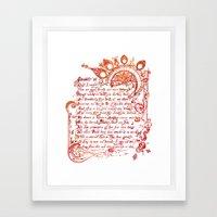 Sonnet 18 Illustration - William Shakespeare Framed Art Print