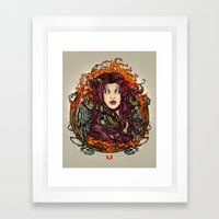 The Queen Of Shaba Framed Art Print