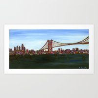 Ben Franklin Bridge Art Print
